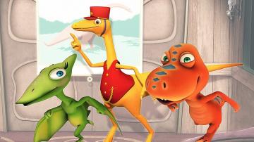 Мультфильм Поезд Динозавров-Путешествия во времени | Мультики про динозавров