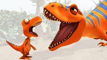 Развивающий Мультик Поезд динозавров   Зубы Тираннозавра