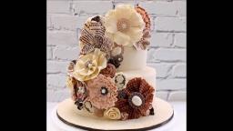 33 идеи украшения торта цветами из мастики