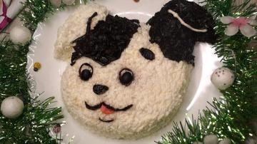 Калинина Наталья  Салат, притягивающий удачу в год Собаки.   Вкус потрясает!