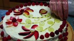 Видео рецепт легкого торта