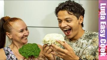 Люда Изи Кук МОМЕНТАЛЬНАЯ ЗАКУСКА маринованная острая цветная капуста и брокколи закуска из цветной