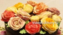 Украшение торта розами из крема - коротко о главном. Анонс!