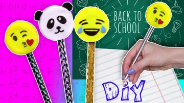 Афинка Diy DIY Насадки на карандаши Emoji / Канцелярия своими руками / Back to school