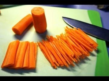 Как морковь нарезать соломкой 2 способа Лазерсона Кулинарный ликбез