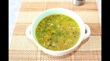 Рыбный Суп из консервов сайры с рисом | Рецепт приготовления пошагово