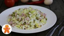 Простой салат с капустой и ветчиной |Рецепт